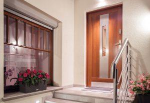 Front door in modern design